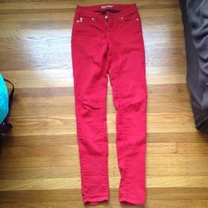 Just Jeans USA Red Skinny Jeans size 0