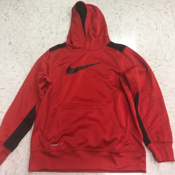 4f1bea9a2 Nike Therma-Fit Red and Black Hoodie-boys Size L. M_59f0e890713fdeec3001fb7b