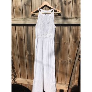 Old Navy White Crochet sleeveless Maxi Dress