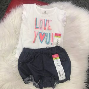 Girls six month short outfit