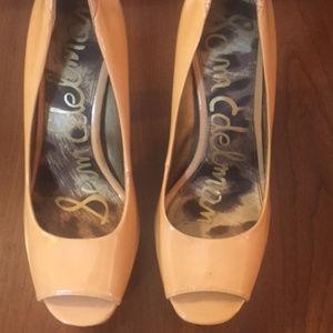 f44e3ff3c0dc06 Sam Edelman Shoes - Sam Edelman Tacoma Peep Toe Beige Pump - 6 1 2