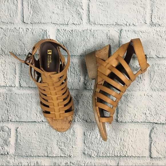 2c47344b7cdc White Mountain Tan Sella Strappy High Heel Sandals.  M 59f0eb63981829a3e3020501