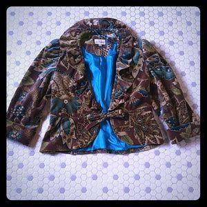 3 Sisters Velvet Ruffle Collar Jacket M