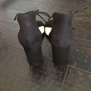 Steve Madden Shoes - STEVE MADDEN SHAYS BLACK Suede LACE-UP HEELS