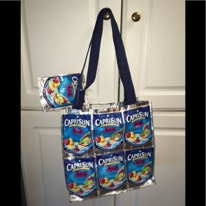 Handbags - 🌻Capri Sun one of a kind handmade tote w lil bag.