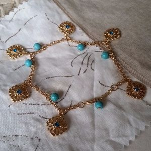 Jewelry - Gold Flower Charm Anklet