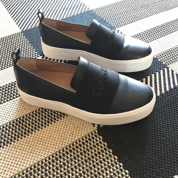 cheap for sale half off order online Calvin Klein Shoes | Womens Jacinta Platform Slip Ons | Poshmark