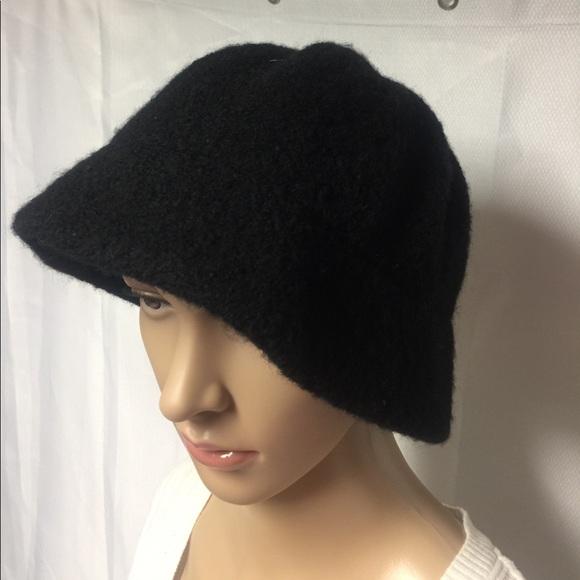 TALBOTS 100% wool Black winter hat cap. M 59f0f152fbf6f95ede0005d0 337144f95565