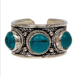 Jewelry - Turquoise Boho Cuff Ring