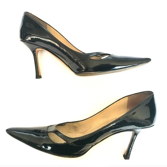 jimmy choo shoes black patent vero pumps poshmark rh poshmark com