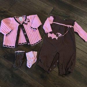 Gymboree baby girl fall set