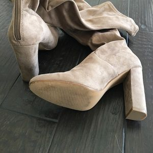 Steve Madden Shoes - Over the Knee Emotions Boots Taupe