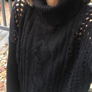 RD style • black turtleneck sweater
