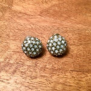 Fossil Light Blue and Gold Stud Earrings