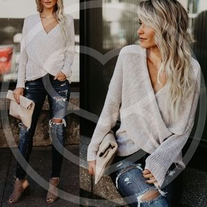 ANISTON Softest Sweater - OATMEAL