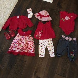 Gymboree baby girl tulip bundle