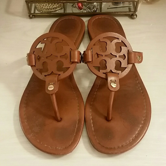 c4812a3146 Tory Burch Miller Vintage Vachetta Sandals Sz. 8.5.  M_59f0fdc5c2845606e8004d5e