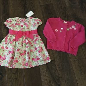 Gymboree baby girl dress and sweater