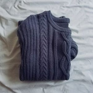 Indigo Cable Knit Sweater