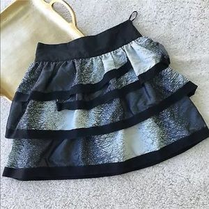TOPSHOP Skirt US 2 UK 6 Ruffles Tiered Abstract