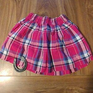 Gilly Hicks pink plaid mini skirt