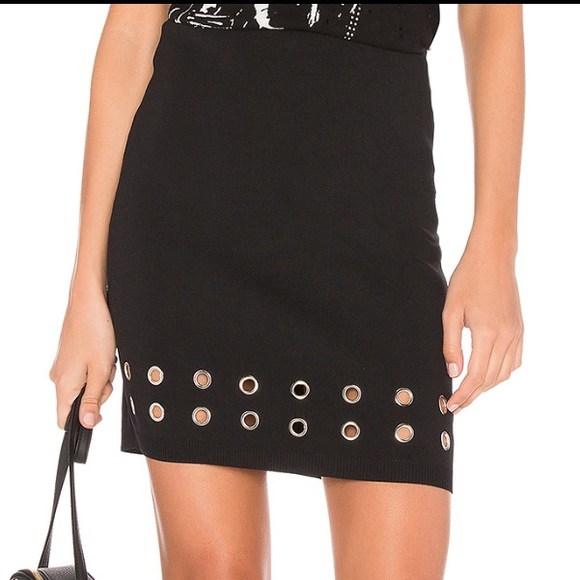MINKPINK Dresses & Skirts - Eyelet Ribbed Skirt