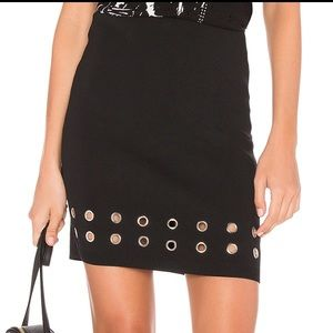 Eyelet Ribbed Skirt