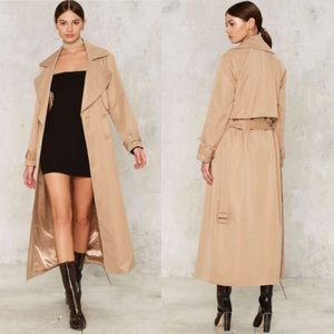 Nasty Gal Sonya Maxi Trench Coat