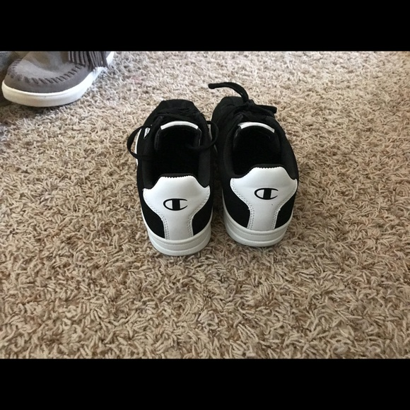 18b01547a Champion Shoes - Black and white champion sneakers (women s)