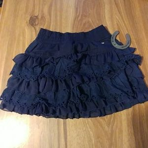 Navy Gilly Hicks mini skirt