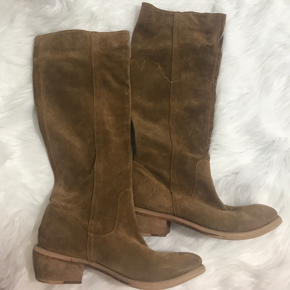 Shoes - Leather knee high boots