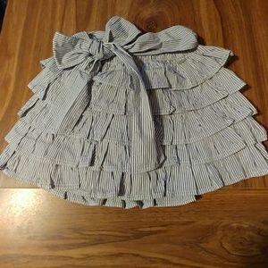 Navy and white striped Gilly Hicks skirt