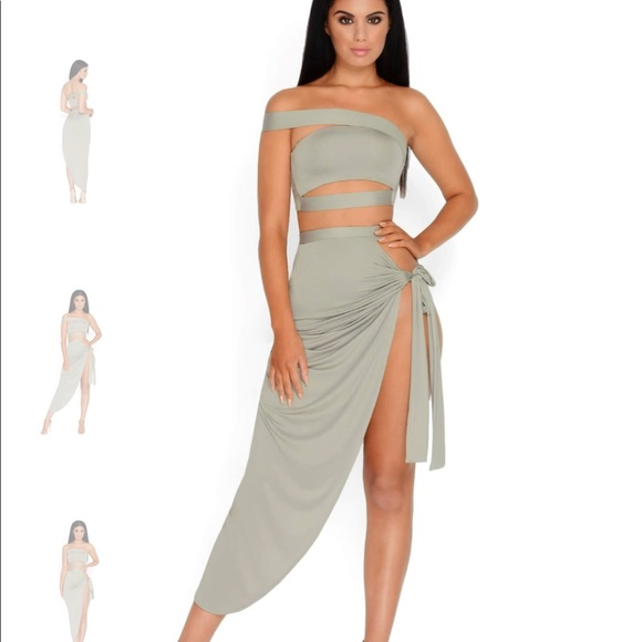 672e090ab oh polly Dresses | Bare In Mind Two Piece Set In Light Khaki | Poshmark