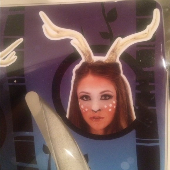 nwt deer antlers on band for halloween costume