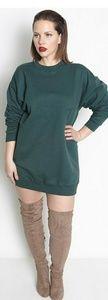 Dresses & Skirts - Hunter green sweatshirt dress