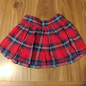 Red and navy plaid Gilly Hicks mini skirt