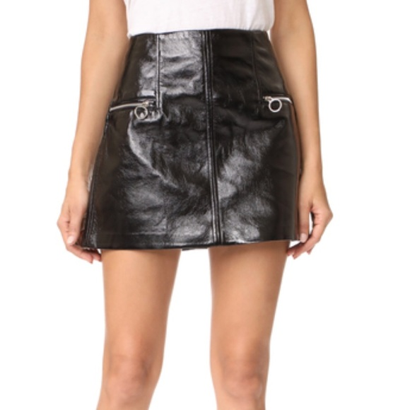 Blank NYC Dresses & Skirts - Faux Patent Leather Mini Skirt