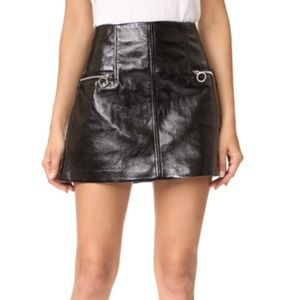 Blank NYC Skirts - Faux Patent Leather Mini Skirt