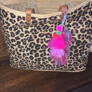 Bags - Animal print jute bag