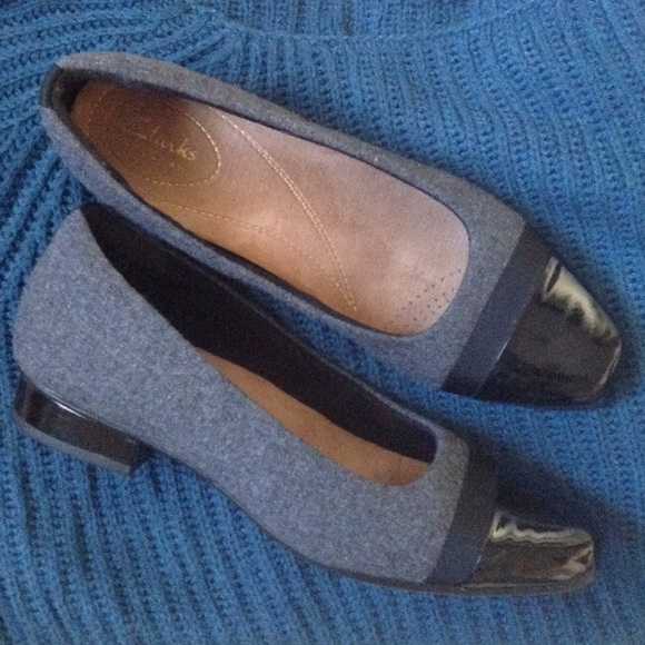 a722294902 Clarks Shoes | Keesha Rosa Size 7 Grey With Patent Leather | Poshmark