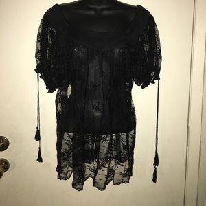 Nicole by Nichole Miller lace blouse. Black 14
