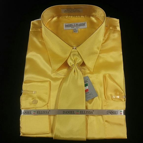 5067d6d4d DANIEL ELLISSA Shirts | Mens Dress Shirt Gold Combo Pack By | Poshmark