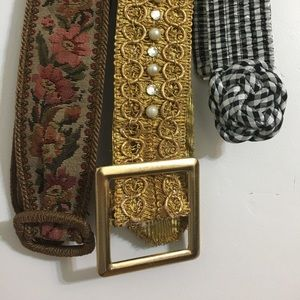 Accessories - Set of 3 fabric vintage belts