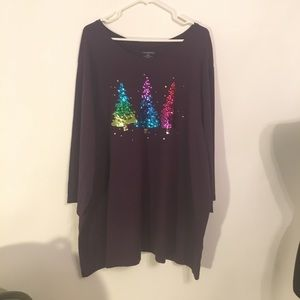 catherines tops catherines plus size 4x shirt christmas shirt 30