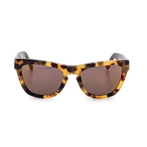 Westward Leaning Accessories - Tortoise Glasses with Gold Lens