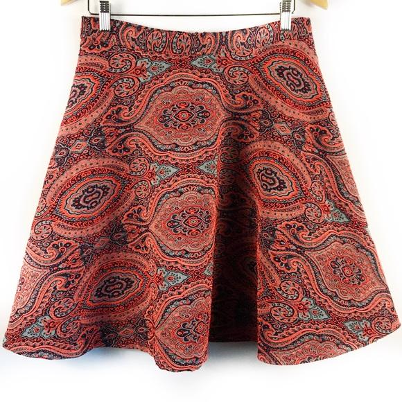 3e3739b124 Boden 8 limited edition orange paisley full skirt NWT