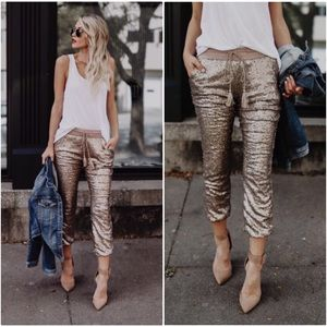 🆕LAST ONE Rose Gold Sequin Pants