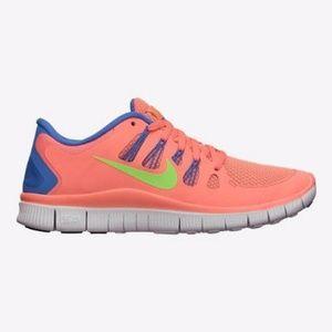 Nike Free 5.0 Atomic Pink Flash Lime Running Shoes