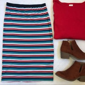 NWT Urban Outfitters Recycled Fiber Striped Skirt