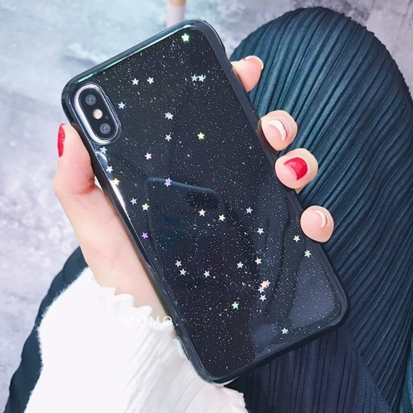 best authentic 72510 58ba4 iPhone X Holographic Black Star Case